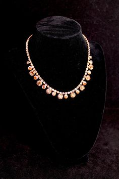 S A L E Dazzling Weiss Aurora Borealis Glass Statement Necklace - Signed (Vintage 1940s, Bridal, Wedding, Royalty) by JaguarIsle, $99.00