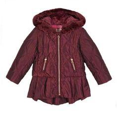 a657a473bbcaf Ted Baker Baby Girls Jacket Coat Plum Shower Resistant Designer 12-18 Months