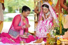 indian-guyanese-hindu-wedding-nynjphotos-19, frontier raas, bridal lehenga, pink bridal, lehenga, wedding lehenga