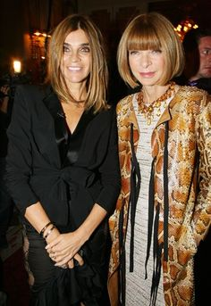 Carine Roitfeld and Anna Wintour together!  I can barely stand it.