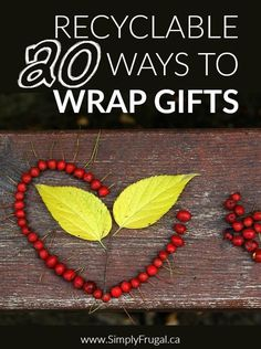 20 Recyclable Ways to Wrap Gifts http://www.lavahotdeals.com/ca/cheap/20-recyclable-ways-wrap-gifts/94298