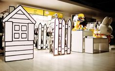 The Miffy shop-in-shop has a unique flair you can't help but engage with. The design captives brand personality and stands apart from the rest of the store. #Design #Branding