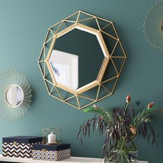 Mercury Row Karlin Modern & Contemporary Beveled Accent Mirror & Reviews | Wayfair Full Length Mirror Wall, Round Wall Mirror, Diy Mirror, Round Mirrors, Foyer Mirror, Over The Door Mirror, Overmantle Mirror, How To Clean Mirrors, Mirrors Wayfair