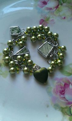 Your place to buy and sell all things handmade Broken China Crafts, Broken China Jewelry, Jewelry Ideas, Jewelry Crafts, Soldered Pendants, Soldering, Pearl Beads, Handcrafted Jewelry, Heart Shapes