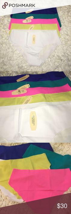 Large Set of 5 Victoria Secret Panties Set of Victoria Secret Panties Size Large. Stretchy and super soft! Brand new with tags, price is firm unless bundled! Colors: blue, turquoise, yellow, pink and white Victoria's Secret Intimates & Sleepwear Panties