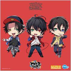 "FREEing_info on Twitter: ""ねんどろいど『ヒプノシスマイク-Division Rap Battle-』 イラスト初公開❗️  『Buster Bros!!!』  #ヒプマイ #BusterBros  #ねんどろいど #FREEing  #wf2019w… "" Mic Logo, Rap Battle, Wall Prints, Division, Chibi, Star, Anime Boys, Twitter, Fandoms"