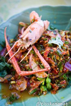 Vdeo cmo hacer pad thai tipica comida tailandesa thai thai spicy shrimp salad forumfinder Image collections