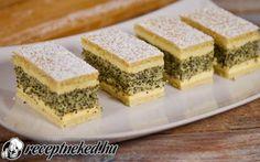 Francia mákos krémes recept fotóval Spanakopita, Tiramisu, Cake Recipes, Cheesecake, Sweets, Cookies, Ethnic Recipes, Food, Tray Bakes