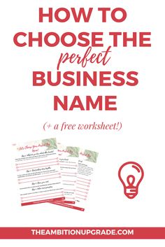 If you're not sure how to start naming your biz, click through to read a step by…