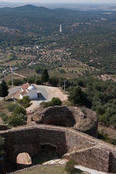 The castle of Evoramonte - Evora, Portugal