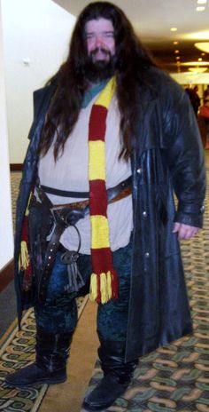 i could rock hagrid like this guy - Good Halloween Costumes For Big Guys