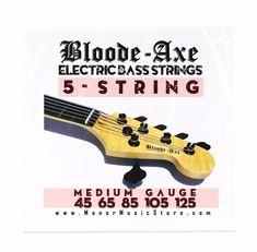 medium gauge  Electric Bass Strings Nickel Wound Steel 45-105 or 5 string bass #BloodeAxe #Strings