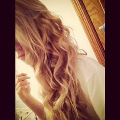 How to: take a shower then braid your hair while still damp. then spray with sea salt spray and sleep on it (: