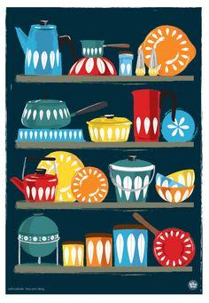 Kitchen Art Cathrineholm Homewares Shelf