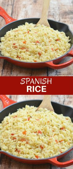 Spanish rice with fresh tomatoes, onions, garlic, cilantro, and lime juice is the perfect accompaniment to your favorite Mexican entrees. Quick and easy to make and cooks in one pan! Healthy Side Dishes, Side Dishes Easy, Side Dish Recipes, Easy Dinner Recipes, Delicious Recipes, Healthy Food, Mexican Entrees, Mexican Dishes, Mexican Food Recipes