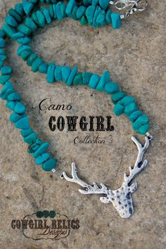 NEW-Deer Hunter, Camo Cowgirl Chunky Western Necklace