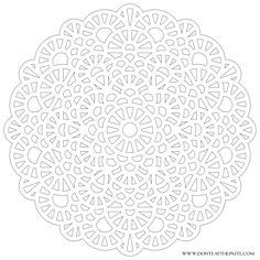 Difficult Level Mandala Coloring Pages | Large transparent PNG version