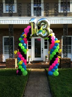 Fun 13th Birthday Balloon Arch delivered                                                                                                                                                     More