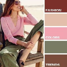 Mix of stylish colors and fashion trends Colour Combinations Fashion, Color Combinations For Clothes, Fashion Colours, Colorful Fashion, Color Combos, Color Schemes, Green Fashion, Color Harmony, Color Balance