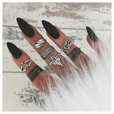 Instagram media by bohomoon - Sterling silver midi rings // bohomoon.com ✨