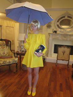 Elle Fanning's Morton Salt Girl Halloween Costume