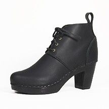 """Lace Up Ankle Boot on Black Heel Our new favorite for fall. Smart and sexy, this is the perfect day to night boot.  Comfortable 3"""" black woo..."""