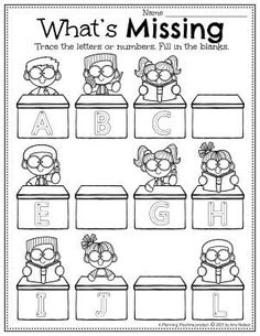 Alphabet Letter Recognition and Writing Activity. - Back to School Preschool Worksheets Preschool Binder, Preschool Age, Preschool Worksheets, Preschool Activities, Back To School Worksheets, Back To School Activities, Writing Activities, English Stories For Kids, Letter Recognition