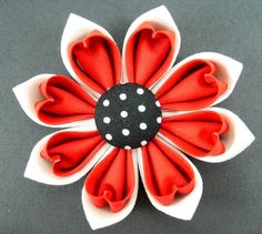 Kanzashi Fabric Flower Tutorial PDF ... 2 Double Petal Versions ... No Machine Sewing ... New  $7.50