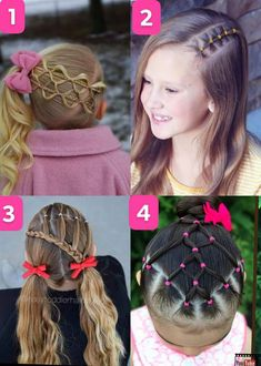 Easy Toddler Hairstyles, Cute Girls Hairstyles, Hairstyles For School, Pretty Hairstyles, Cute Hairstyles, Crazy Hair For Kids, Anna Hair, Healthy Hair, Braids