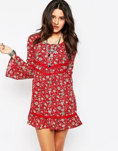 Band of Gypsies Bell Sleeve Dress