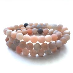 Matte sunstone triple wrap bracelet by #motekcollection $44 DM OR EMAIL to purchase #freeshipping