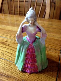 Vintage Rosina Bone China Hand Painted Figurine Antique Pottery, Bone China