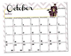 October 2018 Desk Calendar Template Printable Calendars, Desk Calendars, Calendar 2018, Word Free, Planners, October, Templates, Desktop Calendars