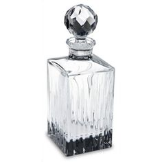 (1) ONE -- Reed & Barton Crystal Soho Squarer Decanter..... i think im gonna start collecting decanters....