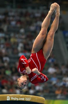 Johnson of the United States competes in the vault during the artistic gymnastics team event at the National Indoor Stadium during Day 5 of the Beijing 2008 Olympic Games.