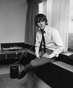 George Harrison, photographed by Harry Benson in Copenhagen, Denmark, 1964.