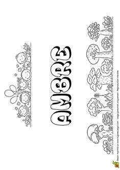 Le mystérieux prénom Ambre est à colorier joliment