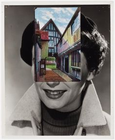 John Stezaker, Mask (Film Portrait Collage) CLXXXV, 2014-15, collage.