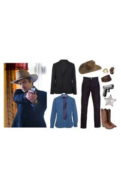 """""""It was justified."""" by scratchmeout ❤ liked on Polyvore featuring Levi's, AllSaints, Paul Smith, Stetson, Urban Renewal, SOLD Design Lab, Stührling, menswear inspired, timothy olyphant and tv forever"""