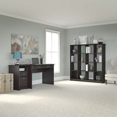 Office Workspace Modern Computer Armoire Desk With