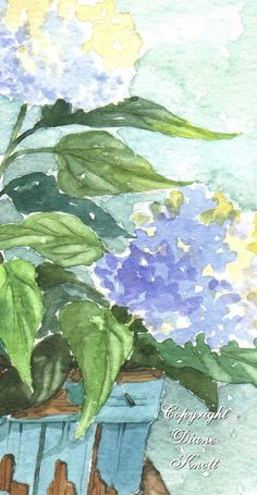Hydrangea Impressions by Diane Knott