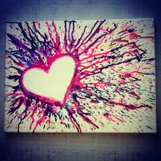crayon artwork | Crayon art.. | Melted Crayon Art
