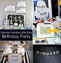 Twinkle twinkle little star birthday party via Kara's Party Ideas karaspartyideas.com #twinkle #star #birthday #party #ideas #shower