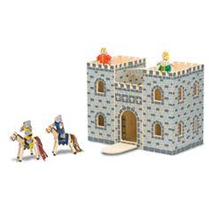 美國 Melissa & Doug 手提式小折原木娃娃屋 - 城堡-