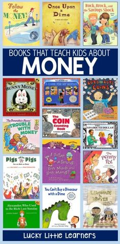 Children's Books that Teach Money – Lucky Little Learners Teaching students about money can be a challenging and multi-faceted endeavor. Here's a list of children's books that you can use to help teach money in your classroom. Teaching Money, Help Teaching, Student Teaching, Teaching Reading, Kids Reading, Guided Reading, Teaching Tools, Money Book, Math Books