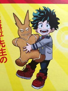 deku with a gingerbread all might