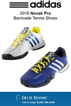 wholesale dealer 98a0b c36e5 adidas 2016 Novak Pro Barricade Tennis Shoes at doittennis.com Discount  Nike Shoes, Nike