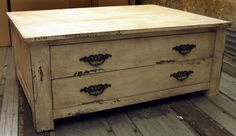 2 Large Drawer Coffee Table