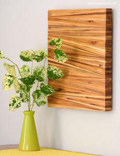 Plans of Woodworking Diy Projects - We're loving this wood shim wall art! >> Nelson Wood Shims Get A Lifetime Of Project Ideas & Inspiration! Woodworking Joints, Woodworking Furniture, Woodworking Projects Plans, Fine Woodworking, Woodworking Books, Woodworking Machinery, Woodworking Equipment, Woodworking Workshop, Sketchup Woodworking