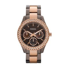 Fossil Stella Stainless Steel Watch - Brown and Rose